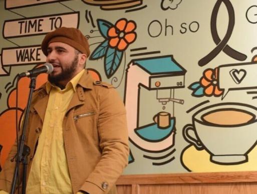 Spoken word poet: Omar Saghir/ M.C. Obnoxious