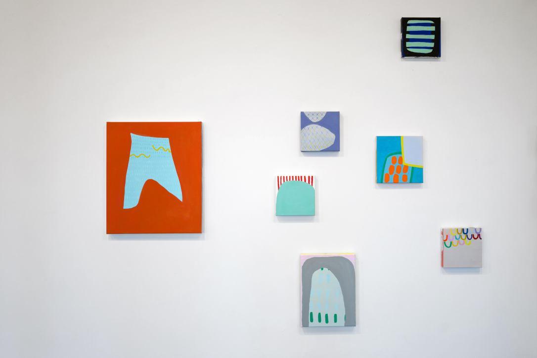 Installation of Emma Carney's Art