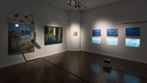Installation of Artwork from the solo exhibition Painting Now! 2015